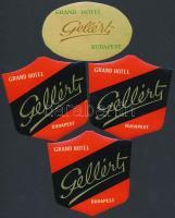 cca 1960 4 db Hotel Gellért bőröndcímke