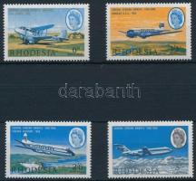 1966 Repülő sor apró festékfoltokkal Mi 42-45