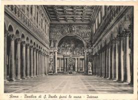 Rome, Roma; Basilico di S. Paolo fuori le mure, interno / church interior
