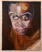 Meiresonne jelzéssel: Fiú portré. Olaj, vászon, 100×77 cm
