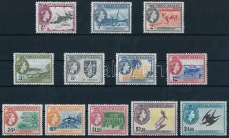 1956 II. Erzsébet királynő 12 érték Mi 111-113, 115-123 (Mi 114 hiányzik / missing)