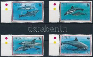 1993 WWF: Delfin ívszéli sor Mi 822-825