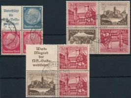 1937-1939 3 stamp-booklet relation, 1937-1939 3 klf bélyegfüzet összefüggés