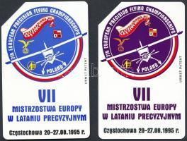 1995 7. európai precíziós repülési bajnokság, Częstochowa, 2 db alkalmi lengyel telefonkártya
