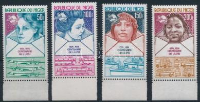 1974 100 éves az UPU ívszéli sor Mi 442-445