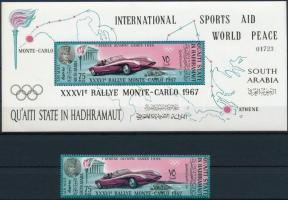 1967 Monte Carloi autóverseny Mi 139 A + blokk 14