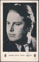 Herbert Ernst Groh (1906-1982) operaénekes aláírt fotólapja, 9x14 cm.