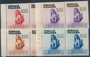 Colonial Exhibition, Naples set 4 values margin pairs Gyarmati kiállítás, Nápoly sor 4 klf értéke ívszéli párokban