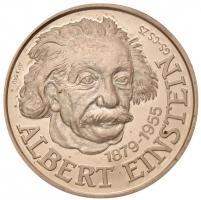Csóka Zsuzsa (1962-) 1995. Albert Einstein jelzett Ag emlékérem (46,28g/0.640/42,5mm) T:PP apró felületi karc