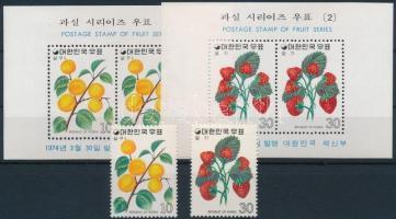 1974 Gyümölcsök (I.) sor Mi 913-914 + blokksor Mi 376-377