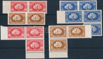 1949 UPU ,,B sor párokban + ,,C sor középen fogazott hármastömbökben (12.000)