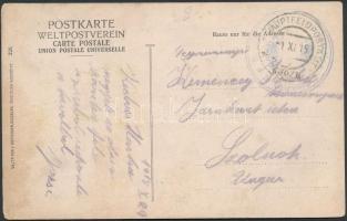 1915 Tábori posta képeslap K.u.k. ... station in Salzburg + HP 630/II