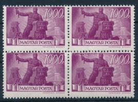 1945 Újjáépítés 1000P elfogazott négyestömb