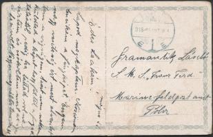 1918 A Franz Ferdinand hadihajóra küldött képeslap