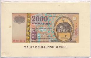 2000. 2000Ft Millennium eredeti bontatlan csomagolásban T:I