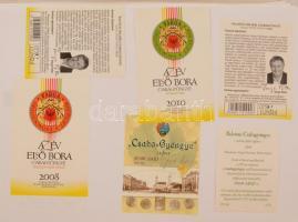 Badacsonyi borok több száz darabos magyar borcímke gyűjtemény. Mind különféle. / Collection of Hungarian wine labels