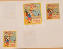Magyar rum címke gyűjtemény 1945-től. kb 200 darab, szépen lapokon prezentálva / Collection of Hungarian rum labels