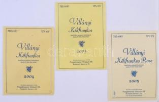 Villányi borok. Nagy borcímke gyűjtemény. Kb 300 db szépen felragasztva, rendezve, mind különböző / Collection Hungarian wine labels