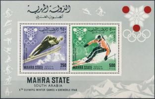 1967 Téli olimpia blokk Mi 4 A