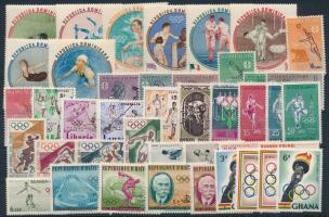 Olympics 6 sets + 8 stamps, Olimpia motívum 6 klf sor + 8 önálló érték