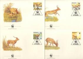 WWF animals FDC, WWF állatok FDC, WWF Tiere FDC