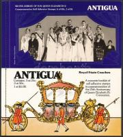 1977-1978 II. Erzsébet; Királyi hintók 2 klf bélyegfüzet