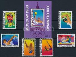 1979 Nyári Olimpia, Moszkva sor Mi 2840-2845 + blokk 98