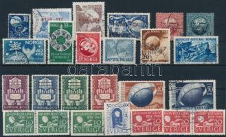 UPU 6 sets + 6 stamps, UPU motívum 6 klf sor + 6 db önálló érték