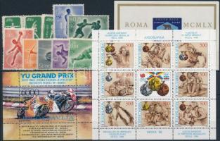 Olympics 1969-1989 2 blocks + 1 set + 3 stamps + 1 mini sheet, Olimpia motívum 1969-1989 2 klf blokk + 1 sor + 3 klf önálló érték + 1 kisív