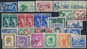 UPU 7 sets + 16 stamps, UPU motívum 7 klf sor + 16 db önálló érték