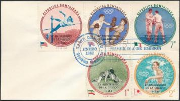 1962 UNESCO sor Mi 757-761 FDC-n