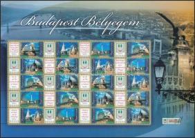 2007 Budapest bélyegem promóciós teljes ív (7.000)