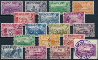 Definitive 18 stamps (Mi 244, 248 missing) Forgalmi 18 érték (Mi 244, 248 hiányzik / missing)