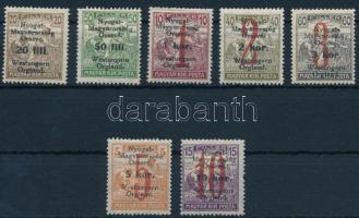Nyugat-Magyarország VI. 1921 Teljes sor Bodor vizsgálójellel (3.700)