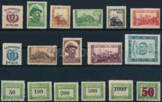 Nyugat-Magyarország VII. 1921 Teljes sor és Portó sor Bodor vizsgálójellel (15.600)