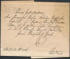 1843 Portós levél / Unpaid cover GROSHÖFLEIN