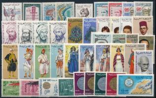 1929-1969 42 db bélyeg, közte teljes sorok stecklapon