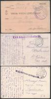 77 db 1. világháborús tábori posta levelezőlap, levél, képeslap