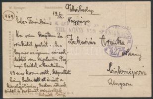1918 Tábori posta képeslap / Field postcard TP 427 a