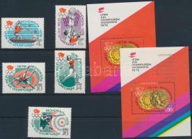 Summer Olympics set + block and overprinted version, Nyári olimpia sor + blokk és felülnyomott változata