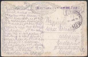 1917 Tábori posta képeslap / Field postcard TP 415