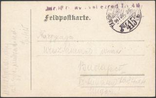 1917 Tábori posta levelezőlap / Field postcard TP 415 b