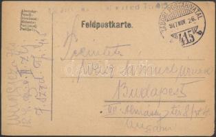 1917 Tábori posta levelezőlap / Field postcardTP 415 b
