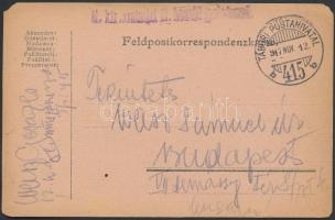 1917 Tábori posta levelezőlap / Field postcard M.kir. szatmári 12. honvéd gyalogezred + TP 415 b