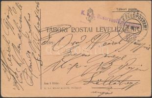 1917 Tábori posta levelezőlap / Field postcard K.u.k. Reserveoffizierschule + FP 406