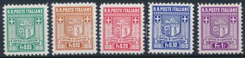 Campione Köztársaság 1944 Forgalmi sor Mi 1-5 B