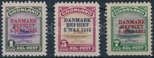 Felülnyomott sor 3 értéke Overprinted 3 stamps