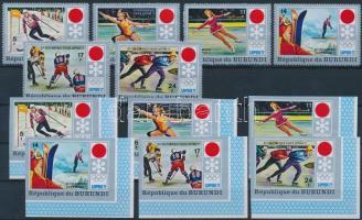 1972 Olimpia fogazott és vágott sor záróértékek nélkül Mi 844-849 AB