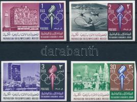 Nyári Olimpia, Mexikó 4 db klf vágott érték Summer Olympics, Mexico 4 imperf stamps