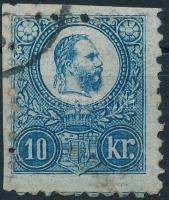 1871 Réznyomat 10kr képbe fogazással / Mi 11 with shifted perforation